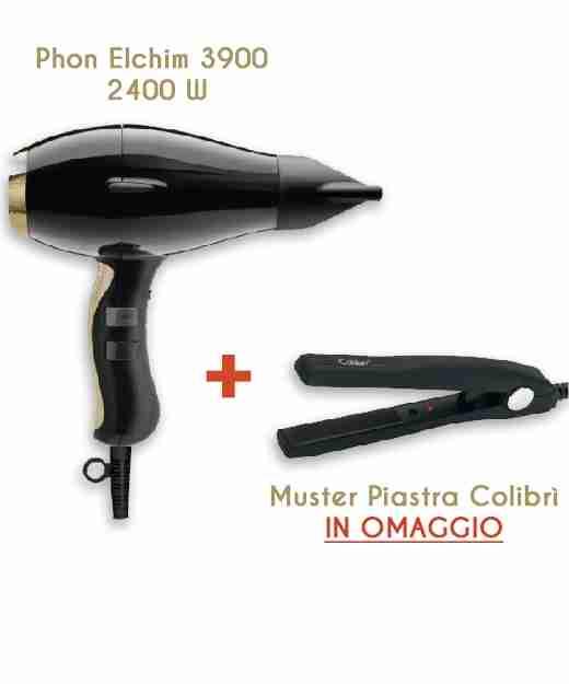 Phon Elchim 3900 Healthy Ionic 2400 W + Mini Piastra Colibri In Omaggio