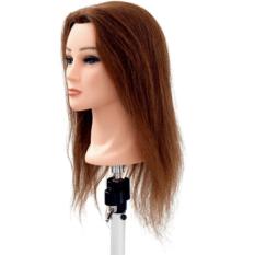 Testina-Femminile-40-CM-100%-capelli-Naturali-taglio-colore-piega